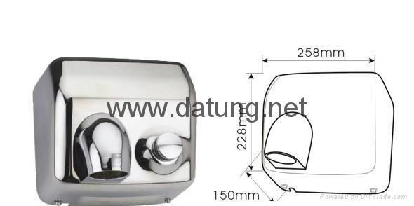 304不鏽鋼感應干手器 自動干手機 公廁感應潔具烘乾機 3