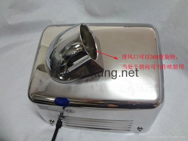 304不鏽鋼感應干手器 自動干手機 公廁感應潔具烘乾機 4