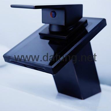 Glass Basin Waterfall Faucet/art faucet/brass faucet/waterfall tap/waterfall fau 4