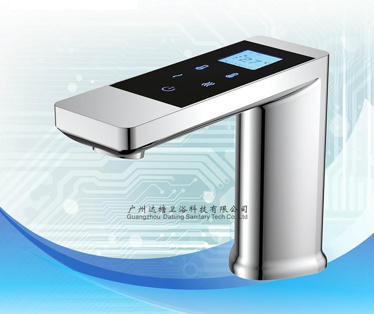 恆溫觸屏水龍頭 數字化溫控智能水龍頭 可調節水量水龍頭 2