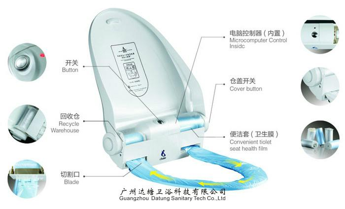 Automatic Sanitary Toilet Seat Cover Dispenser with Heating function 3