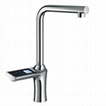 High-end intelligent adjust kitchen faucet hot and cold electronic tap  8