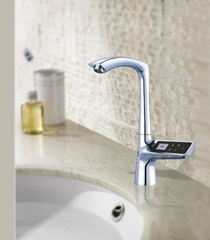 High-end intelligent adjust kitchen faucet hot and cold electronic tap