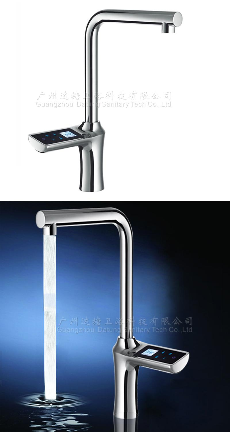 High-end intelligent adjust kitchen faucet hot and cold electronic tap  7