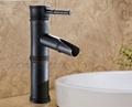 Bamboo artistic faucet bamboo joint brass tap art basin faucet  8