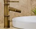 Bamboo artistic faucet bamboo joint brass tap art basin faucet  2