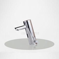 圓柱形一體式冷熱感應水龍頭家用商用調溫紅外線感應洗手器