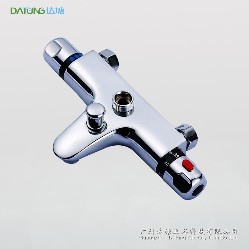 多功能浴室恒温水龙头 水温调节阀 带下出水恒温控制器接顶喷手持 1
