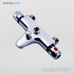 多功能浴室恆溫水龍頭 水溫調節閥 帶下出水恆溫控制器接頂噴手持