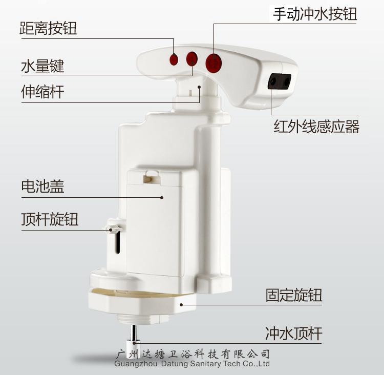 马桶感应器 感应+手动冲水+水量可调+距离可调 多功能马桶小配件 3