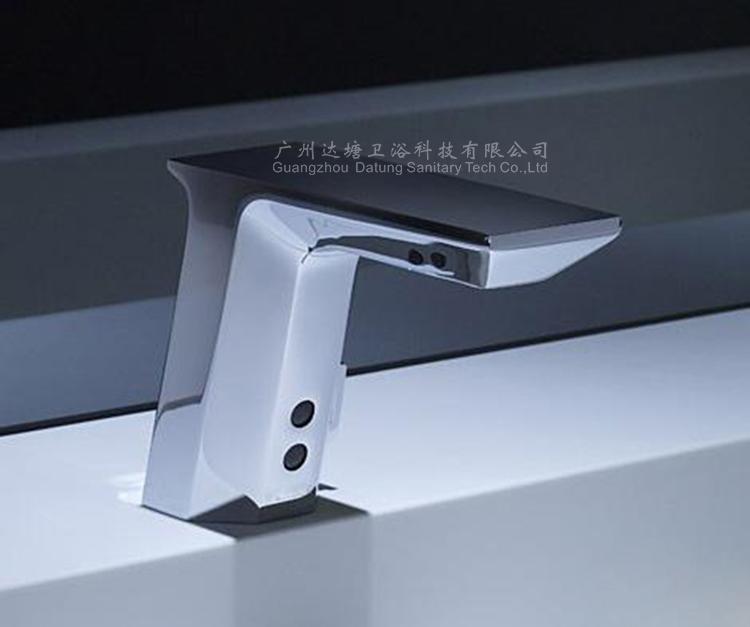 冷熱調溫感應水龍頭帶調溫手柄 全銅洗手器 公廁自動免接觸水龍頭 4