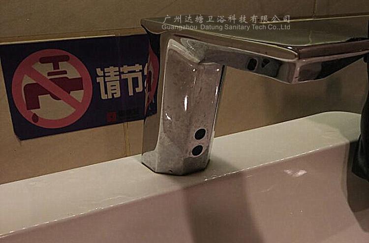 冷熱調溫感應水龍頭帶調溫手柄 全銅洗手器 公廁自動免接觸水龍頭 6