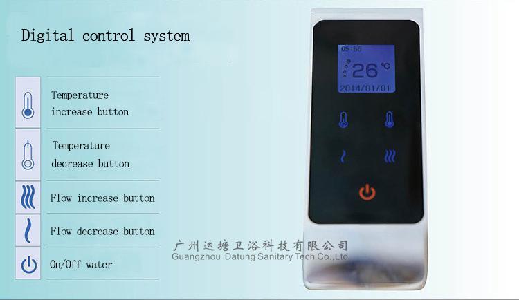 恆溫觸屏水龍頭 數字化溫控智能水龍頭 可調節水量水龍頭 3