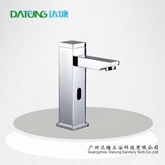 高端感應水龍頭 全銅冷熱水龍頭 混合水面盆龍頭 感應洗手器