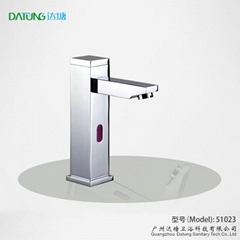 square post sensor faucet column auto tap