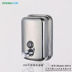 不锈钢皂液器 手动皂液盒 挂墙式皂液机 304不锈钢洗手液盒
