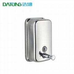 304不锈钢挂墙皂液器 金属皂液盒 壁挂式滴皂机 手按式滴皂筒