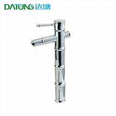 Chromed artistic tap / chromed bamboo bathtub / bamboo Art tap / creative motif