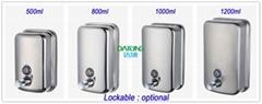 廠家直銷304不鏽鋼壁挂式手動皂液器洗手液器浴室沐浴露盒子