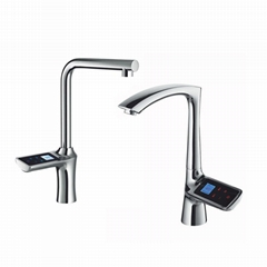 High-end smart screen faucet Kitchen touch-screen faucet