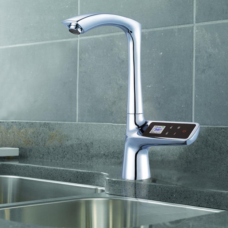 High-end smart screen faucet Kitchen touch-screen faucet 4