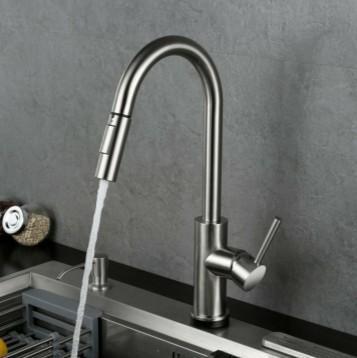 Touch + Manual + Drain faucet Drain Ditch Touch faucet Home kitchen sink 3
