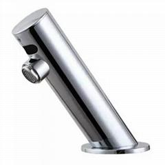 倾斜自动感应水龙头 全铜/不锈钢感应水嘴 台盆自动节水水咀 举报
