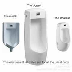 Urinal induction urinal integrated electronic urinal flushing device