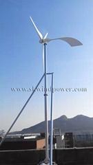 Low noise but higher efficiency wind turbine 10kw