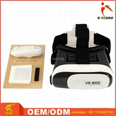 VR Case VR Box 2.0 Version Virtual Reality 3D Glasses with Remote Controller
