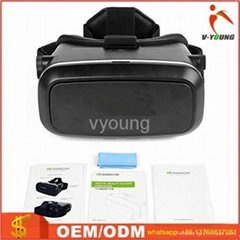 Factory 3d VR shinecone box tv glasses with remote