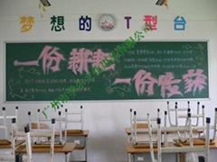 諾迪士定做進口E3搪瓷綠板教學粉筆磁性板課室大黑板