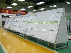 诺迪士订做特殊进口树脂磁性白板三角形写字板可移动式