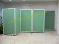 諾迪士廠家定做活動圖書館展館折疊式雙面屏風展板 2