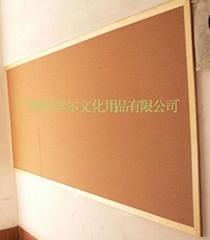 諾迪士廠家訂做實木櫸木邊水松展示板相片牆板文化牆板