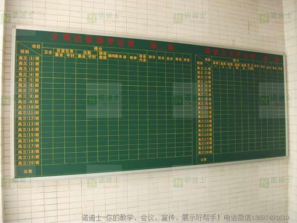 諾迪士訂做畫線貼字白板絲印UV磁性寫字白板 4