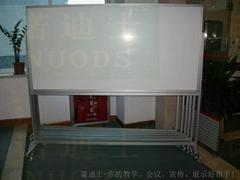 诺迪士定做活动加厚铝支架磁性搪瓷白板可移动写字板