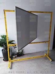 諾迪士定做活動加厚垂直旋轉雙面磁性白板360度可轉寫字板