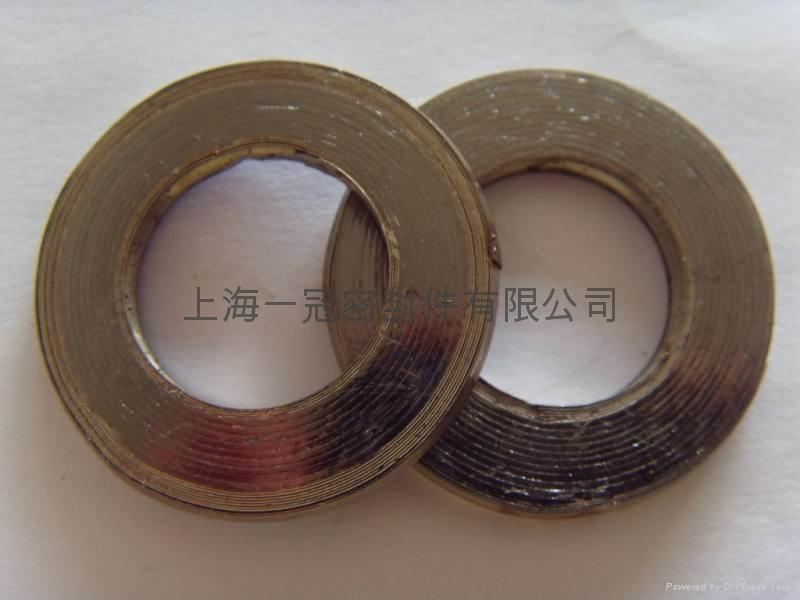 金屬纏繞墊片 帶內外環金屬墊 1