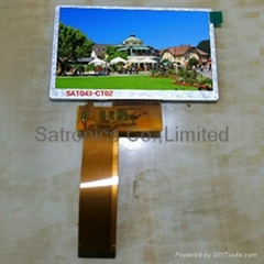 4.3inch Long FPC TFT LCD Module,FPC:100mm