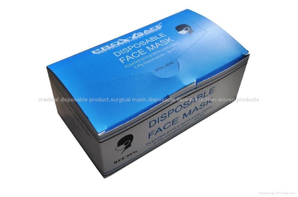 Disposable 3ply Non woven face mask 4