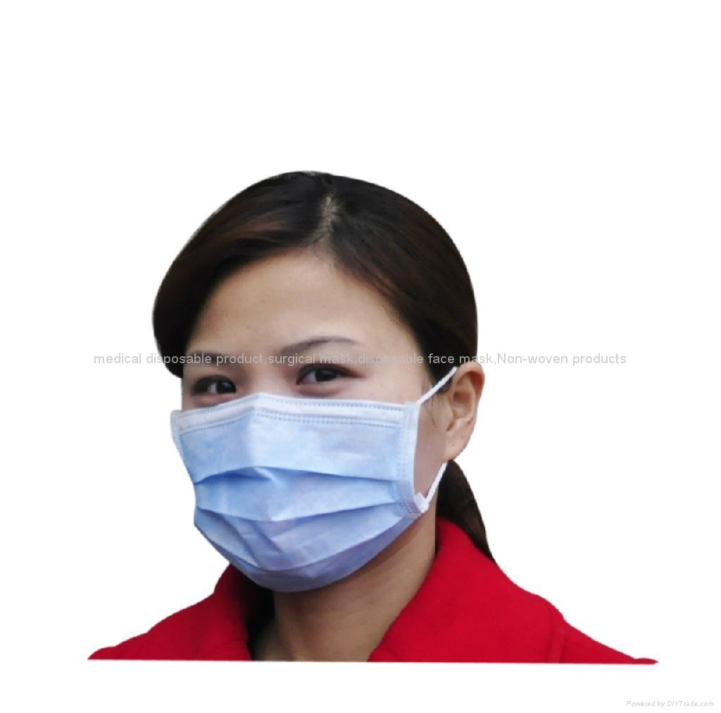 Disposable 3ply Non woven face mask 1