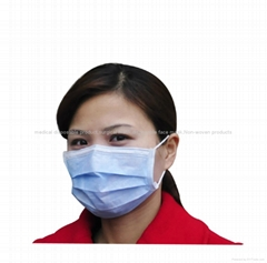 Disposable 3ply Non woven face mask