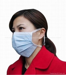 Disposable 4 tie 3ply Non woven face mask with cheap price high quality