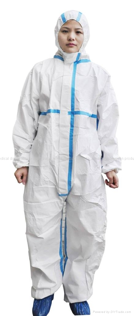 Disposable Non woven coverall  with cheap price high quality 2