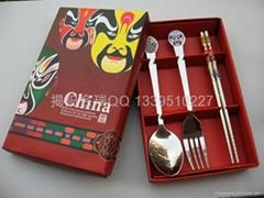 不鏽鋼韓式餐具禮品餐具套裝