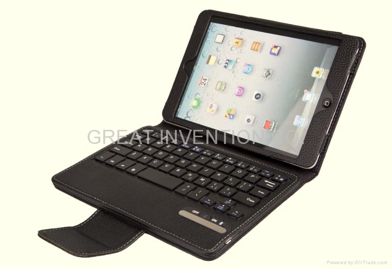 蘋果IPAD MINI 可拆卸無線藍牙皮套鍵盤 1