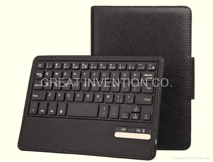 蘋果IPAD MINI 可拆卸無線藍牙皮套鍵盤 3