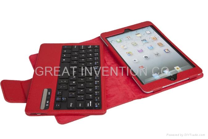苹果IPAD MINI 可拆卸无线蓝牙皮套键盘 4