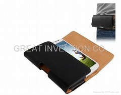 LEATHER HOLSTER CASE FOR SAMSUNG GALAXY